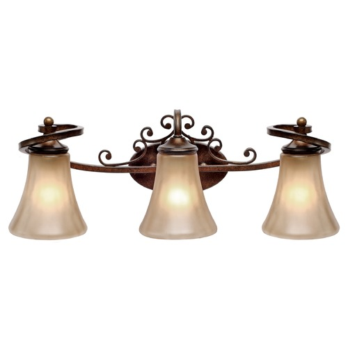Golden Lighting Golden Lighting Loretto Russet Bronze Bathroom Light 4002-BA3 RSB