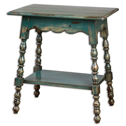 Uttermost Lighting Uttermost Andrey Teal Accent Table 24479