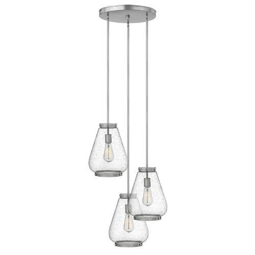Hinkley Hinkley Finley Brushed Nickel Mini-Pendant Light with Urn Shade 3686BN
