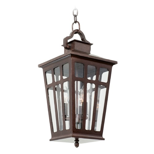 Kalco Lighting Kalco Shorecrest Old Rust Outdoor Hanging Light 403651OR