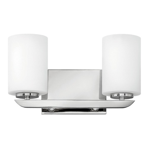 Hinkley lighting kyra polished nickel bathroom light for Hinkley bathroom vanity lighting