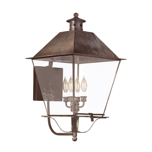 Troy Lighting Outdoor Wall Light with Clear Glass in Natural Rust Finish B9140NR