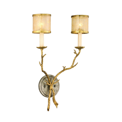 Corbett Lighting Corbett Lighting Parc Royale Gold and Silver Leaf Sconce 66-12