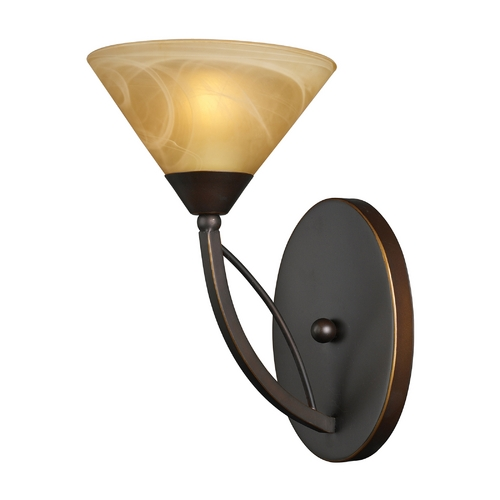 Elk Lighting Modern Sconce Wall Light in Aged Bronze Finish 7640/1