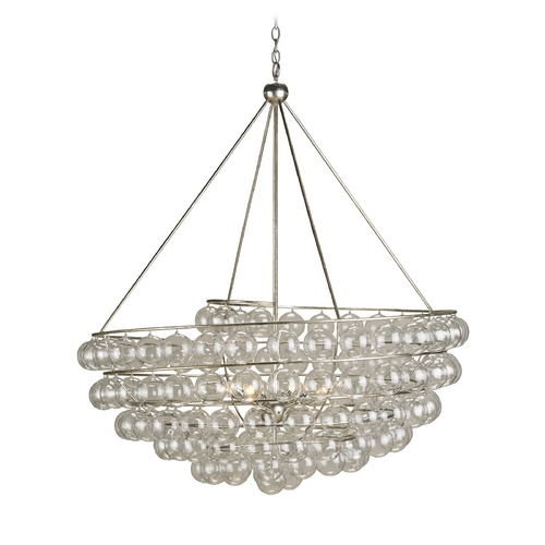 Currey and Company Lighting Pendant Light in Contemporary Silver Leaf Finish 9002