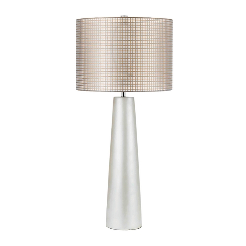 AF Lighting Modern Table Lamp with Beige / Cream Shade in Pearl Finish 8113-TL