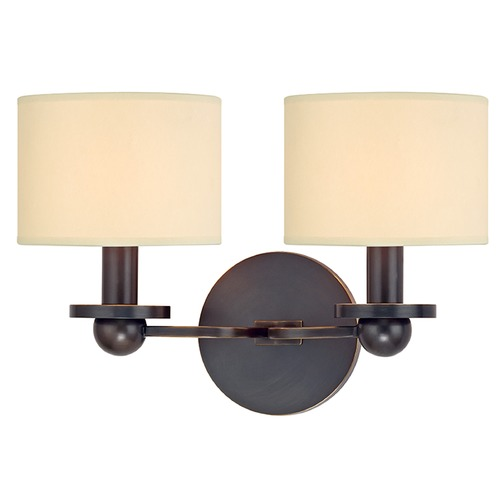 Hudson Valley Lighting Kirkwood 2 Light Sconce Drum Shade - Old Bronze 1512-OB