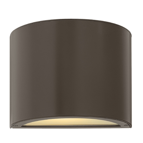 Hinkley Lighting Modern Outdoor Wall Light with White Glass in Bronze Finish 1667BZ-GU24