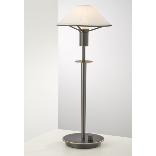 Holtkoetter Lighting Holtkoetter Modern Table Lamp with White Glass in Hand-Brushed Old Bronze Finish 6514 HBOB SW