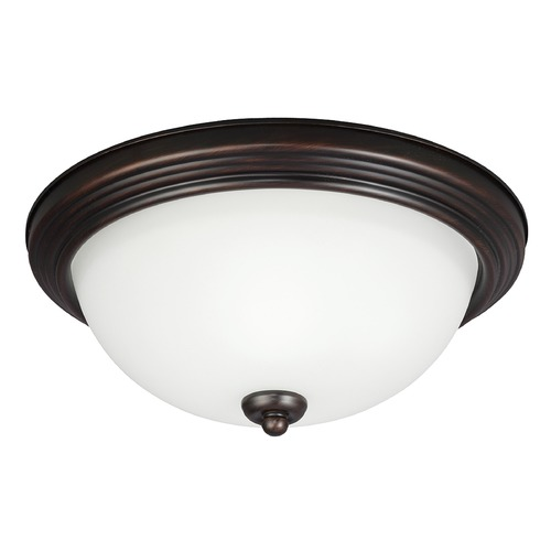 Sea Gull Lighting Sea Gull Lighting Ceiling Flush Mount Burnt Sienna Flushmount Light 79665BLE-710