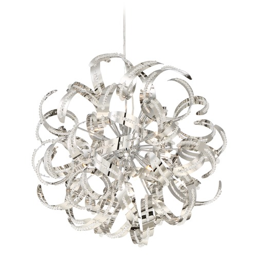 Quoizel Lighting Quoizel Ribbons Crystal Chrome Pendant Light RBN2823CRC