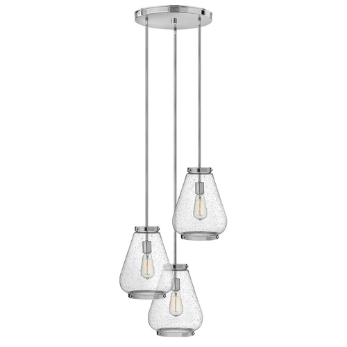 Hinkley Lighting Hinkley Lighting Finley Chrome Mini-Pendant Light with Urn Shade 3686CM