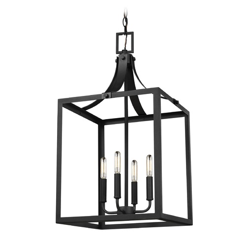 Sea Gull Lighting Sea Gull Lighting Labette Black LED Pendant Light 5340604EN-12
