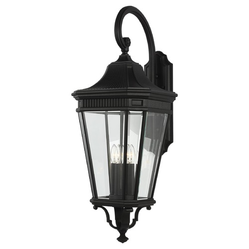 Feiss Lighting Feiss Lighting Cotswold Lane Black Outdoor Wall Light OL5405BK