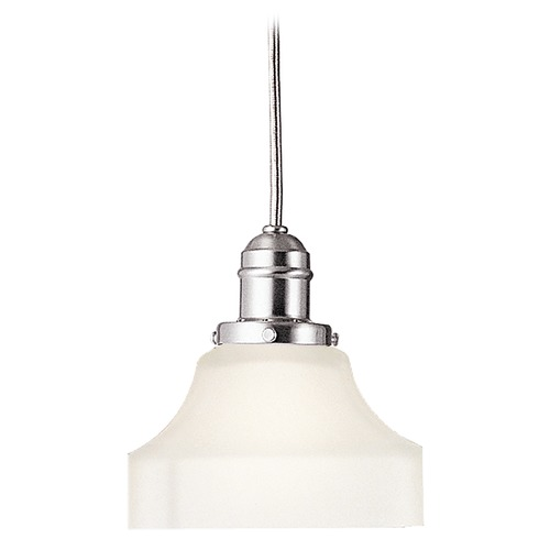 Hudson Valley Lighting Mini-Pendant Light with White Glass 3102-SN-226