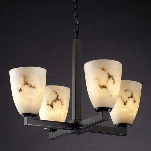 Justice Design Group Justice Design Group Lumenaria Collection Mini-Chandelier FAL-8829-18-MBLK