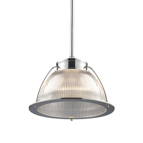 Elk Lighting Modern Pendant Light with White Glass in Polished Chrome Finish 60004-1