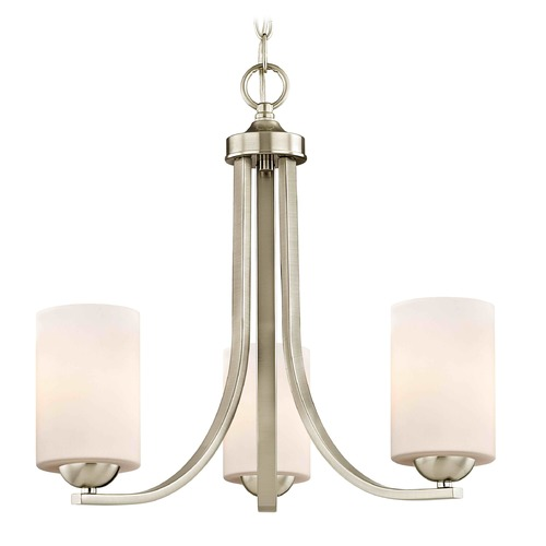 Design Classics Lighting Design Classics Dalton Fuse Satin Nickel Mini-Chandelier 5843-09 GL1028C