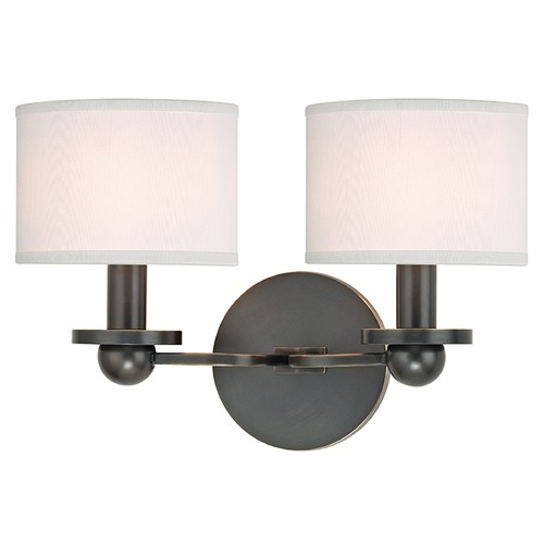 Hudson Valley Lighting Kirkwood 2 Light Sconce Drum Shade - Old Bronze 1512-OB-WS