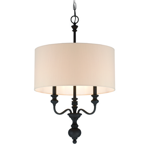 Craftmade Lighting Craftmade Willow Park Gothic Bronze Pendant Light with Drum Shade 28533-GB