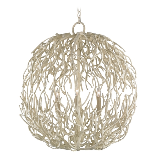 Currey and Company Lighting Currey and Company Lighting White Coral Pendant Light 9501