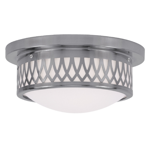 Livex Lighting Livex Lighting Westfield Brushed Nickel Flushmount Light 7351-91