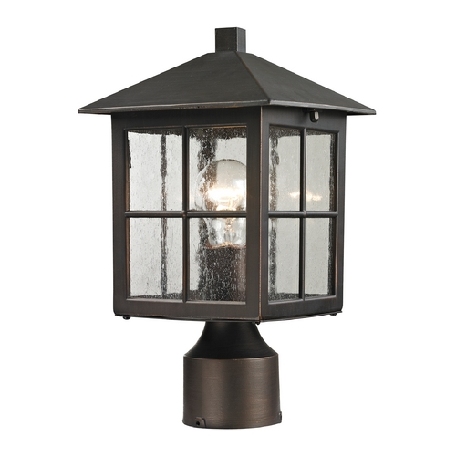 Thomas Lighting Seeded Glass Post Light Bronze Thomas Lighting 8201EP/70