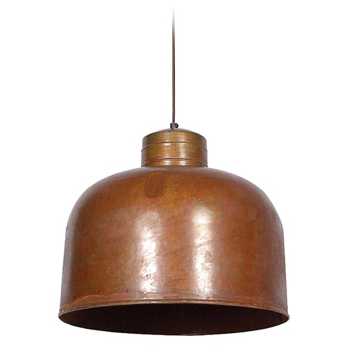 Kenroy Home Lighting Kenroy Home Lighting Chambers Rust Pendant Light 92071RST