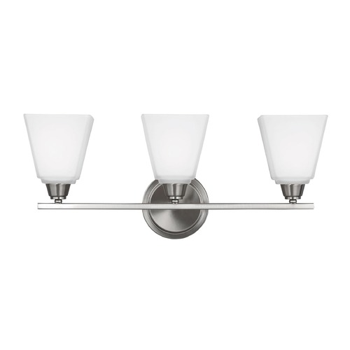 Sea Gull Lighting Sea Gull Lighting Parkfield Brushed Nickel Bathroom Light 4413003-962