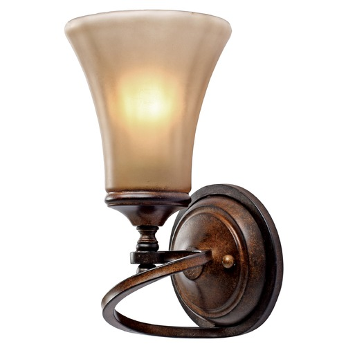 Golden Lighting Golden Lighting Loretto Russet Bronze Sconce 4002-1W RSB