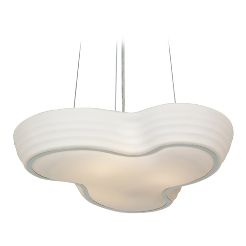 Access Lighting Access Lighting Pebble Chrome LED Pendant Light with Bowl / Dome Shade 20689LEDD-CH/OPL