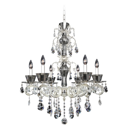 Allegri Lighting Allegri Locatelli 6-Light Crystal Chandelier in 2-Tone Silver 10096-017-FR001