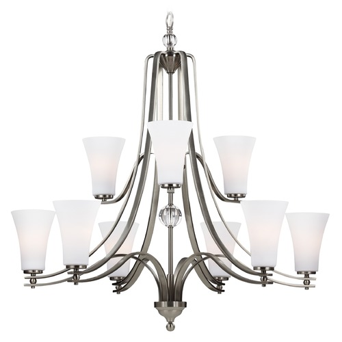 Feiss Lighting Feiss Lighting Evington Satin Nickel Chandelier F3076/9SN