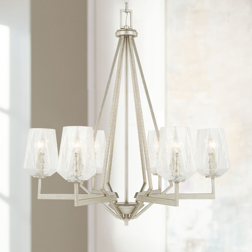 Capital Lighting Modern Chandelier Silver Arden by Capital Lighting 411261BS-317