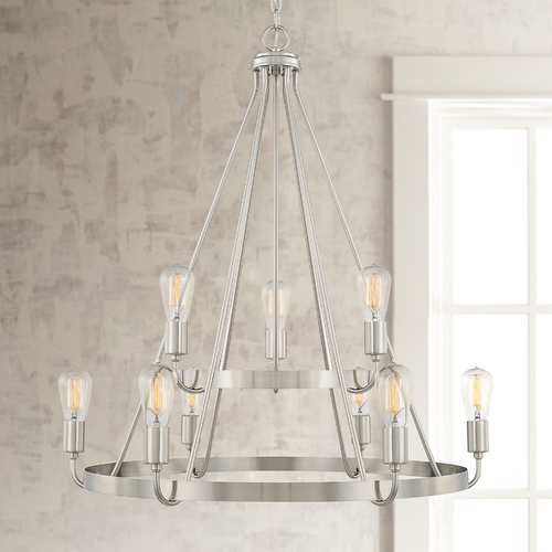 HomePlace by Capital Lighting Homeplace By Capital Lighting Tanner Brushed Nickel Chandelier 420091BN
