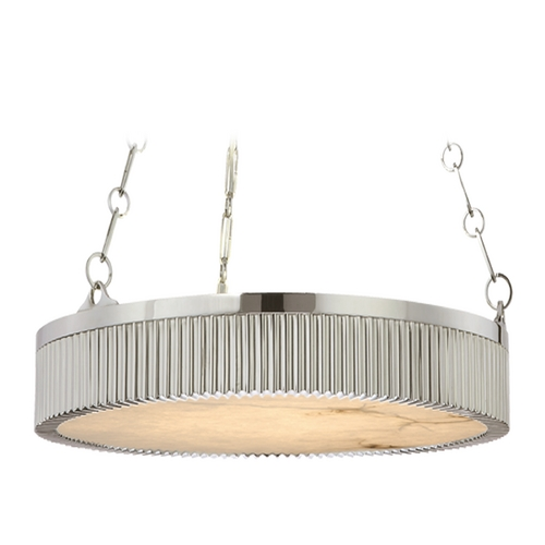 Hudson Valley Lighting Drum Pendant Light in Polished Nickel Finish 516-PN