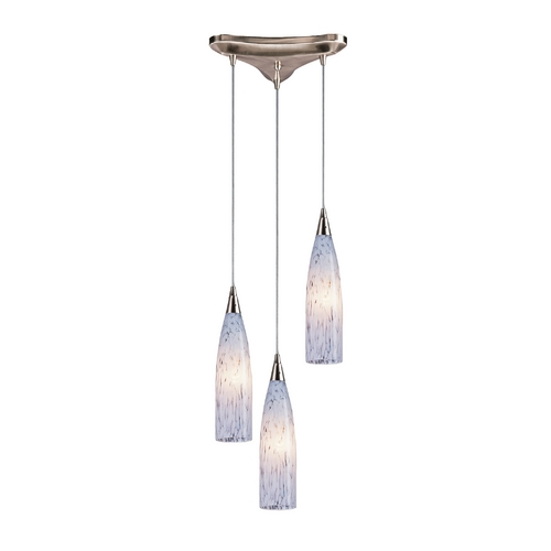 Elk Lighting Modern Multi-Light Pendant Light with Art Glass and 3-Lights 501-3SW
