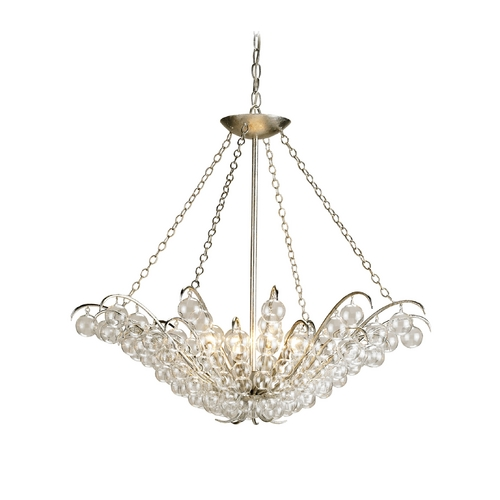 Currey and Company Lighting Pendant Light in Contemporary Silver Leaf Finish 9000