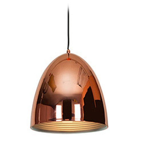Access Lighting Copper Dome Medium Pendant 28091-SCP WITH 8W FROST LED G25