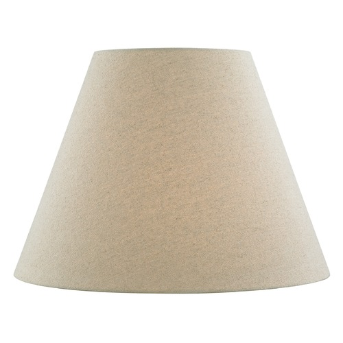 Design Classics Lighting Oatmeal Linen Empire Fabric Lamp Shade with Spider Assembly SH9707