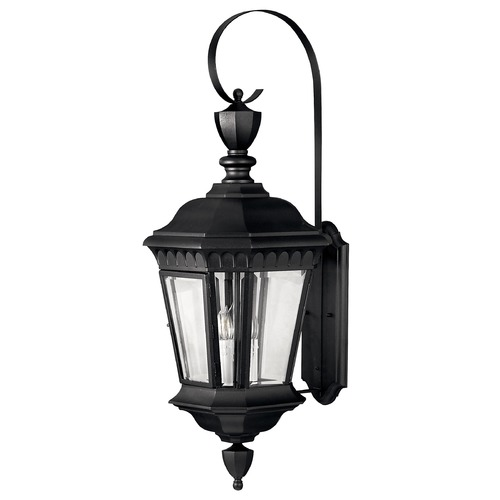 Hinkley Lighting Outdoor Wall Light with Clear Glass in Black Finish 1705BK