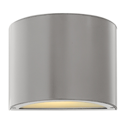 Hinkley Lighting Modern Outdoor Wall Light with White Glass in Titanium Finish 1667TT-GU24