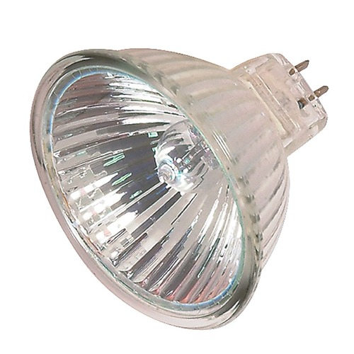 Satco Lighting MR-16 Halogen Light Bulb 2 Pin Narrow Flood 25 Degree Beam Spread 2900K 12V Dimmable S2631