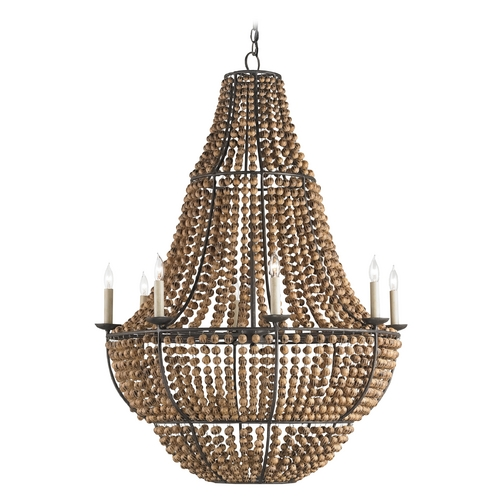 Currey and Company Lighting Currey And Company 8-Light Chandelier in Old Bronze 9502