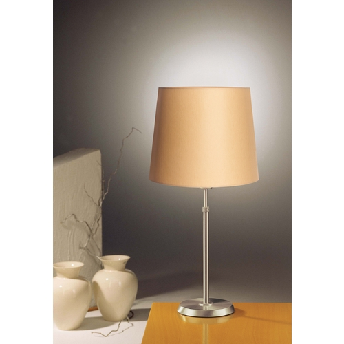 Holtkoetter Lighting Holtkoetter Modern Table Lamp with Beige / Cream Shade in Satin Nickel Finish 6263 SN KPRG