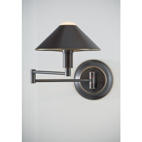 Holtkoetter Lighting Holtkoetter Modern Swing Arm Lamp in Hand-Brushed Old Bronze Finish 9416 HBOB