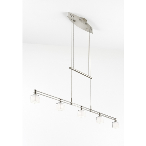 Holtkoetter Lighting Holtkoetter Modern Low Voltage Pendant Light with White Glass in Satin Nickel Finish 5515 SN G5012