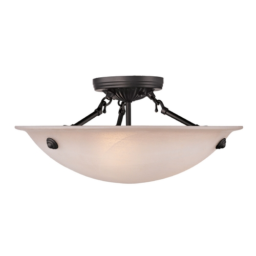 Livex Lighting Livex Lighting Oasis Bronze Semi-Flushmount Light 5625-07