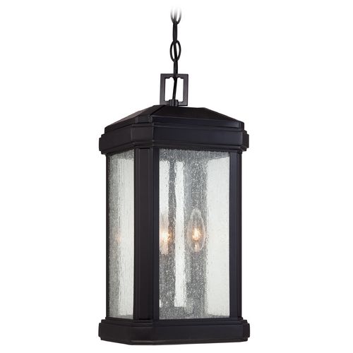 Quoizel Lighting Quoizel Trumbull Mystic Black Outdoor Hanging Light TML1908K