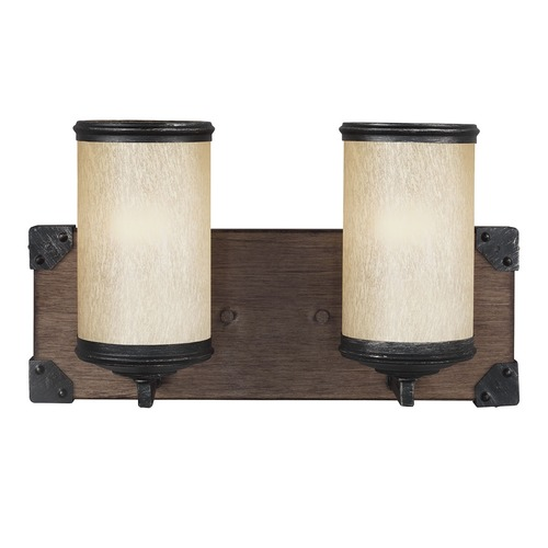Sea Gull Lighting Sea Gull Lighting Dunning Stardust / Cerused Oak Bathroom Light 4413302-846